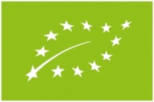 EU organic logo, found on wine to signify organically grown grapes