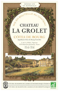 Chateau la Grolet label
