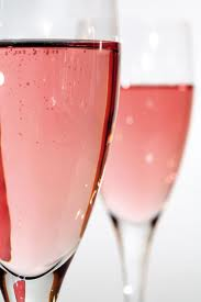 Pink Organic sparkling wine and Champagne